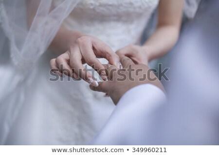 portret · schoonheid · bruidegom · ring · bruiloft · mannelijke - stockfoto © artush