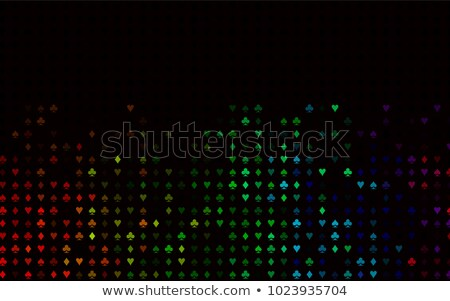 Decorative background of card suits Stock photo © elenapro