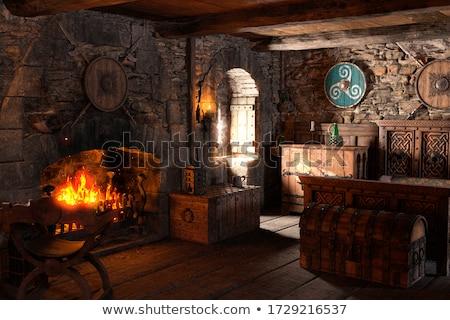 Medieval bed Stock photo © daneel