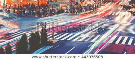 Cars and people crossing a busy Tokyo intersection Stock photo © Melpomene