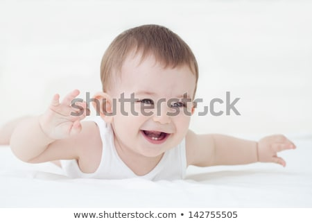 Cute ребенка смеясь первый зубов Сток-фото © filipw
