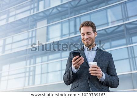 estate agent on phone in office stock photo © highwaystarz