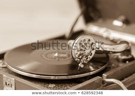 lemezjátszó · közelkép · kilátás · lp · bakelit · lemez - stock fotó © feverpitch