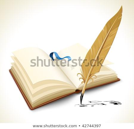 пустая страница Перу карандашом знак Живопись чернила Сток-фото © leonido