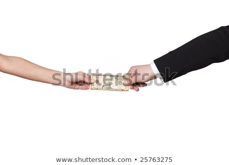 Two hands holding the same dollar-bill Stock photo © gemenacom