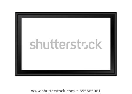 Blank horizontal painting in black frame Stock photo © stevanovicigor