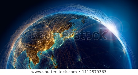 China Ásia global mundo vetor mapa Foto stock © fenton