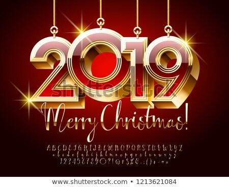 christmas casino and happy new year card vector illustration stock photo © carodi