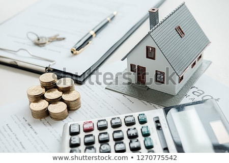 Stockfoto: Huis · financiering · top · euro · 50s