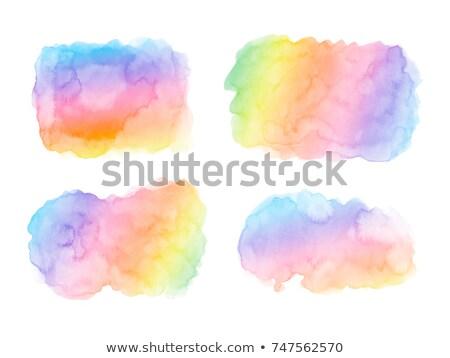 Set of color watercolor blots Stock photo © gladiolus