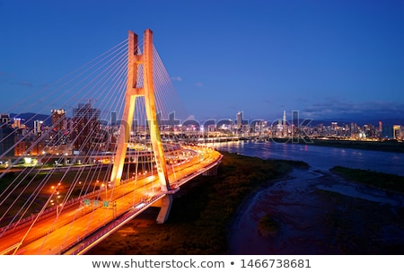 Landmark of Taipei bridge Stock photo © elwynn