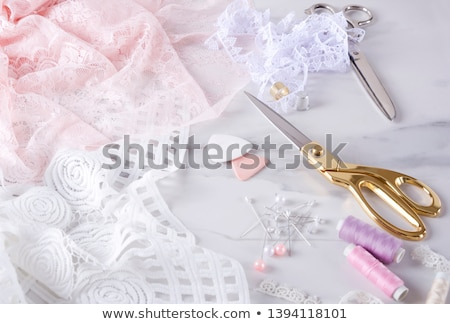 Witte lingerie mooie brunette Rood meisje Stockfoto © disorderly