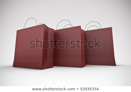 três · grande · vermelho · 3D · prestados - foto stock © bayberry