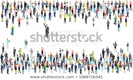 isometric vector icon of people group  Stock photo © maximmmmum