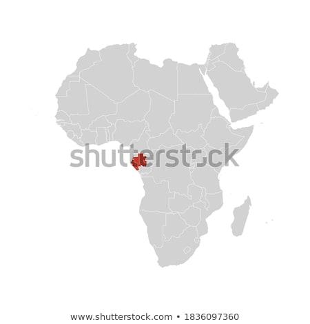Térkép Gabon különböző betűk fehér absztrakt Stock fotó © mayboro1964