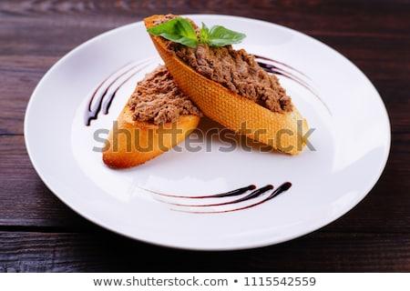 ブルスケッタ · 肝臓 · 食品 · ディナー · ランチ - ストックフォト © zhekos