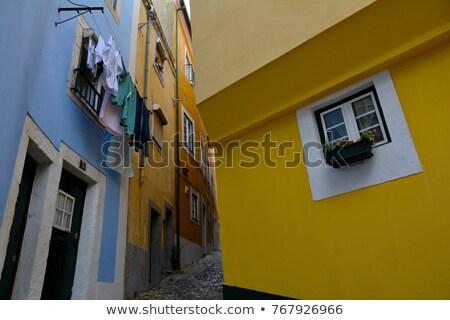 старые квартал Лиссабон Португалия облака пейзаж Сток-фото © elxeneize