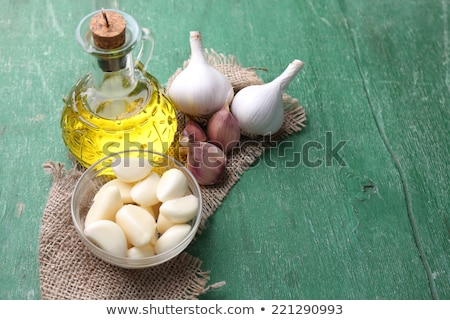 Olive oil flavored with garlic Stock photo © marimorena