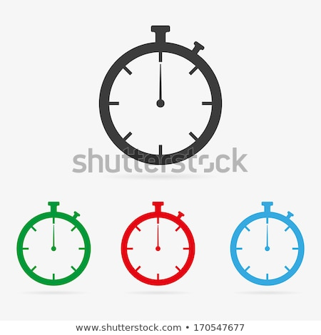 Stop Watch Red Vector Icon Button Stock photo © rizwanali3d