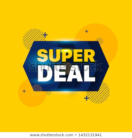 Stock photo: Super Deals Blue Vector Icon Design