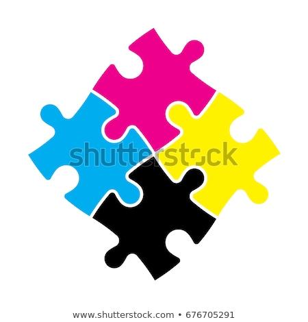 CMYK Puzzle Stock photo © make