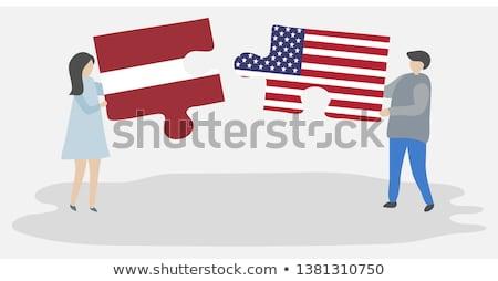 米国 ラトビア フラグ パズル ベクトル 画像 ストックフォト © Istanbul2009