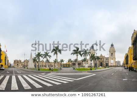 Overheid paleis lima Peru 15 2015 Stockfoto © meinzahn