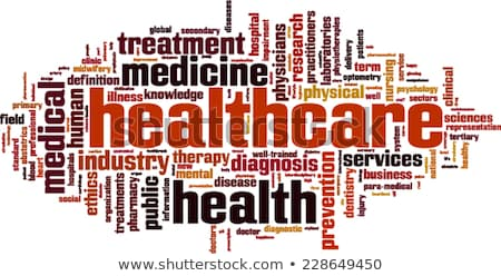 Healthcare word cloud Stock photo © tang90246