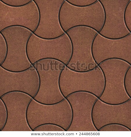 Brown Paving Slabs of the Wavy Form. Stock photo © tashatuvango