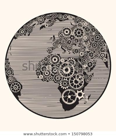 Wereld economie mechanisme metaal markt Stockfoto © tashatuvango