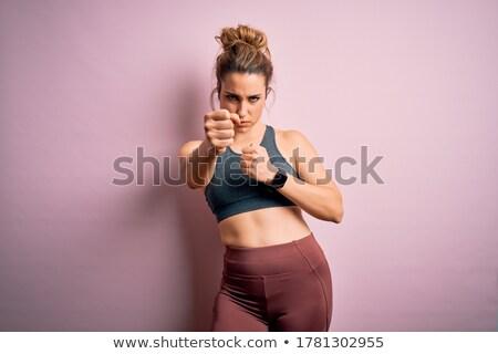 Young woman boxing stock photo © acidgrey