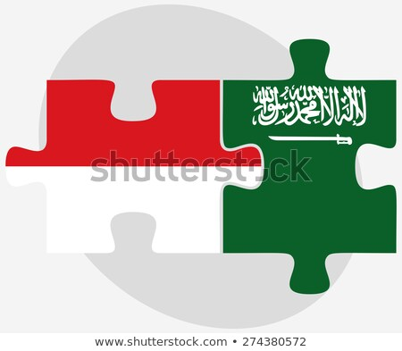 Indonesia and Saudi Arabia Flags in puzzle Stock photo © Istanbul2009