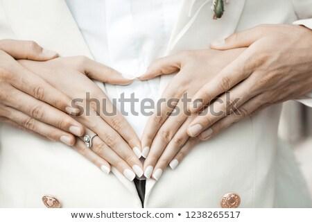 Photo stock: Nneaux · doux · au · toucher · pour · faire-part · de · mariage