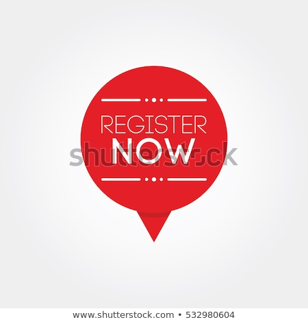 Register Now Red Sticky Notes Vector Icon Design Stock photo © rizwanali3d