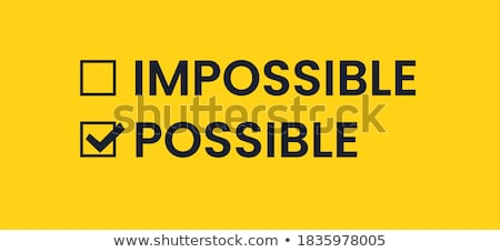 невозможное слово баннер Дать белый женщину Сток-фото © fuzzbones0