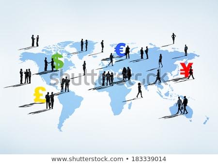 Global business ludzi jen podpisania działalności mężczyzn Zdjęcia stock © bluebay
