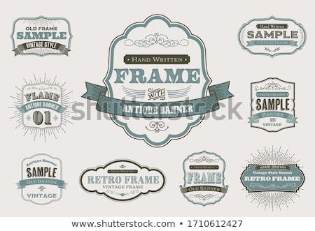 Vintage frame grunge concentrisch titel opschrift Stockfoto © olgaaltunina