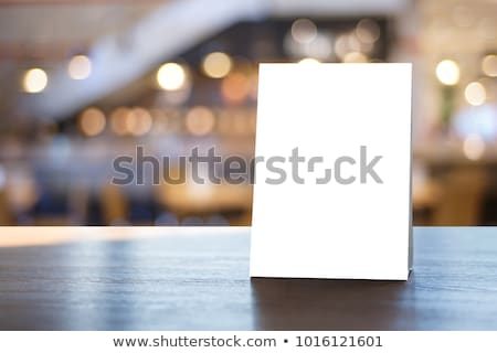 Blank paper table cards. Stock photo © netkov1