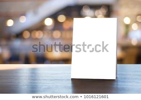 白 · 紙 · スタンド · 表 · タグ · チラシ - ストックフォト © netkov1