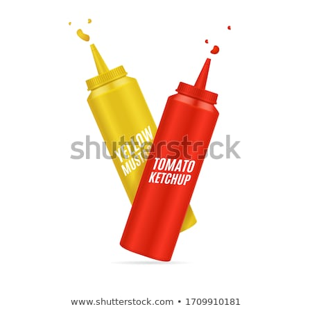 Bottles of ketchup and mustard  Stock photo © netkov1