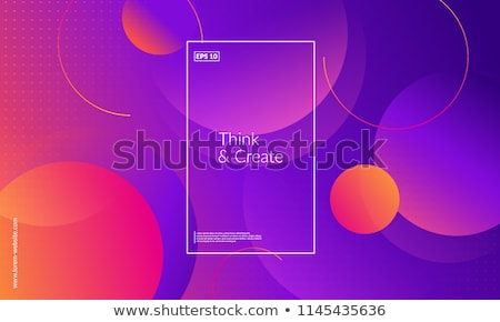 Stock fotó: Absztrakt · kör · színes · dizájn · elem · vektor · szimbólum
