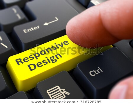 Responsive Design - Written on Yellow Keyboard Key. Stock photo © tashatuvango