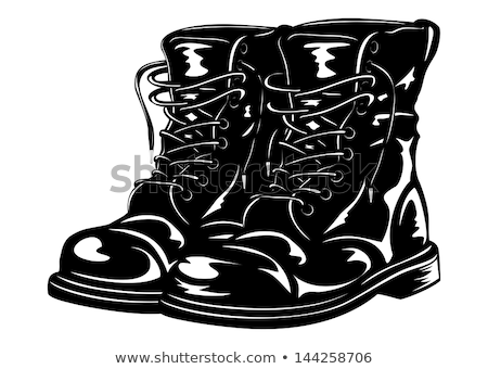 black army boots stock photo © shutswis