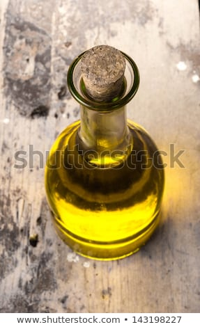 Extra maagd olijfolie olieverf houtstructuur olijfolie Stockfoto © marimorena
