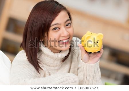 dinheiro · brilhante · quadro · mulher · escritório - foto stock © dolgachov