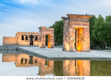 Stock fotó: Templom · Madrid · naplemente · Spanyolország · éjszaka · kő