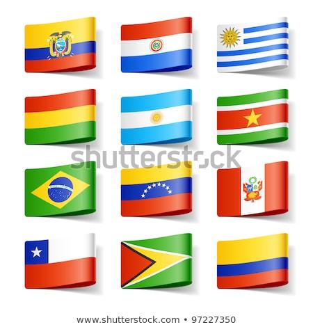 Brasil Colômbia bandeiras quebra-cabeça isolado branco Foto stock © Istanbul2009