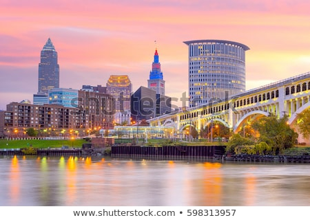 Cleveland - skyline view Stock photo © benkrut