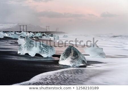 hullámok · jéghegy · Ontario · Kanada · természet · tenger - stock fotó © elxeneize