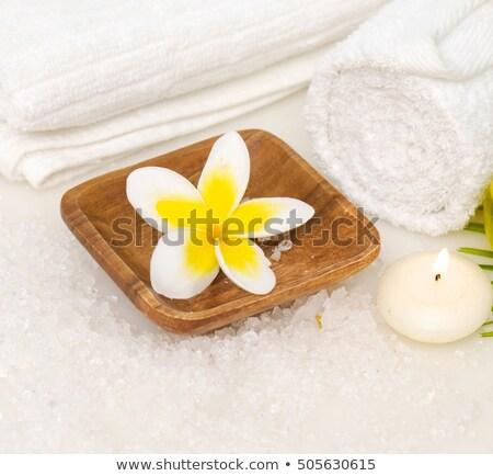 Zen çiçek çanak çömlek sabun doğa sağlık Stok fotoğraf © timh